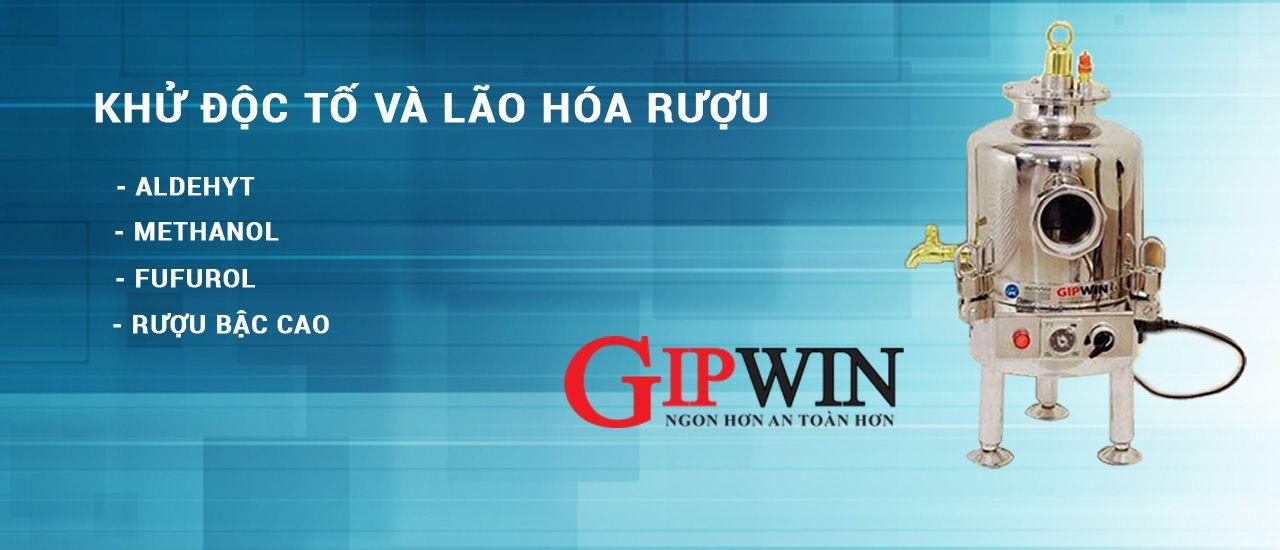 Banner máy khử độc rượu Gipwin