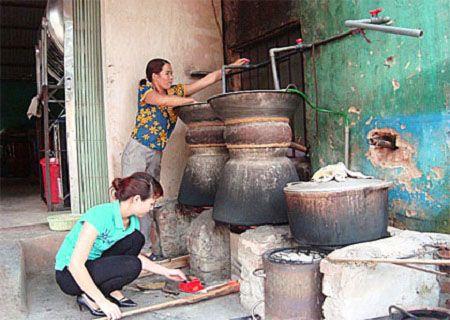 quy trình sản xuất rượu gạo truyền thống