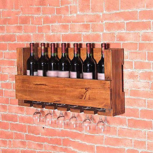 giá để rượu treo tường bằng gỗ