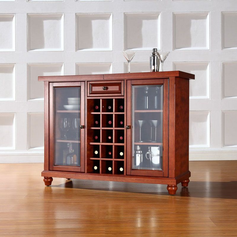 Tủ rượu bằng gỗ kiêm bàn pha chế tiện dụng cho gia đình
