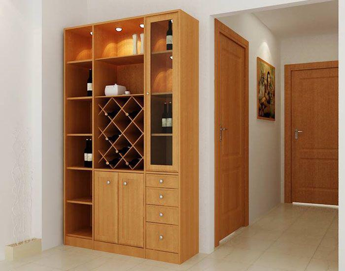 Mẫu tủ rượu gỗ công nghiệp