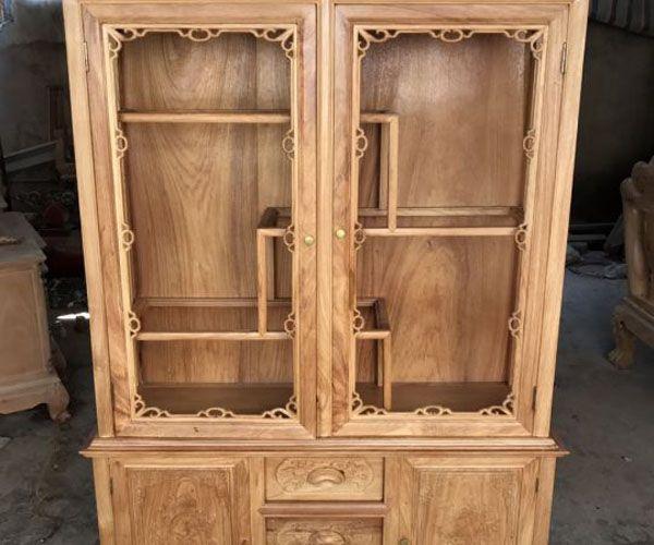 Mẫu tủ rượu bằng gỗ hương