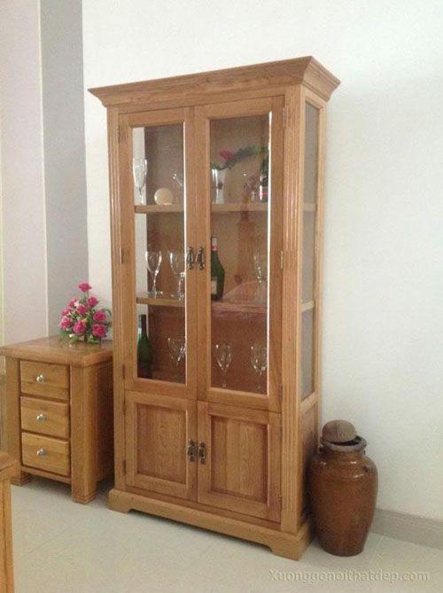 Tủ rượu bằng gỗ sồi