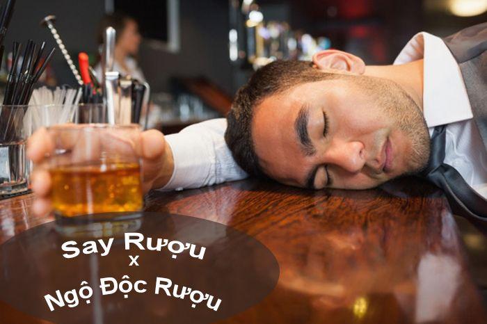 phân biệt say rượu và ngộ độc rượu