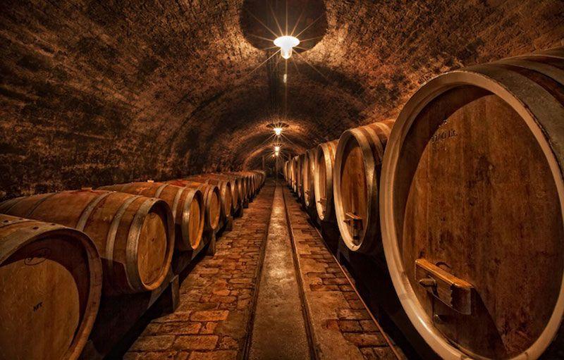 rượu ủ lâu năm trong thùng gỗ sồi