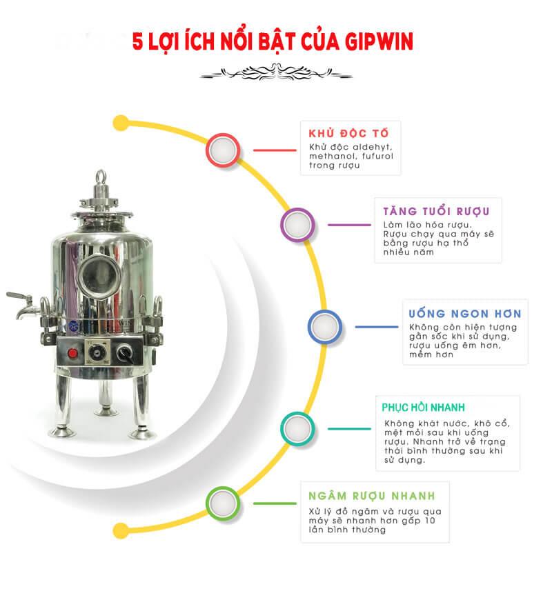 ưu điểm của máy lão hóa rượu gipwin
