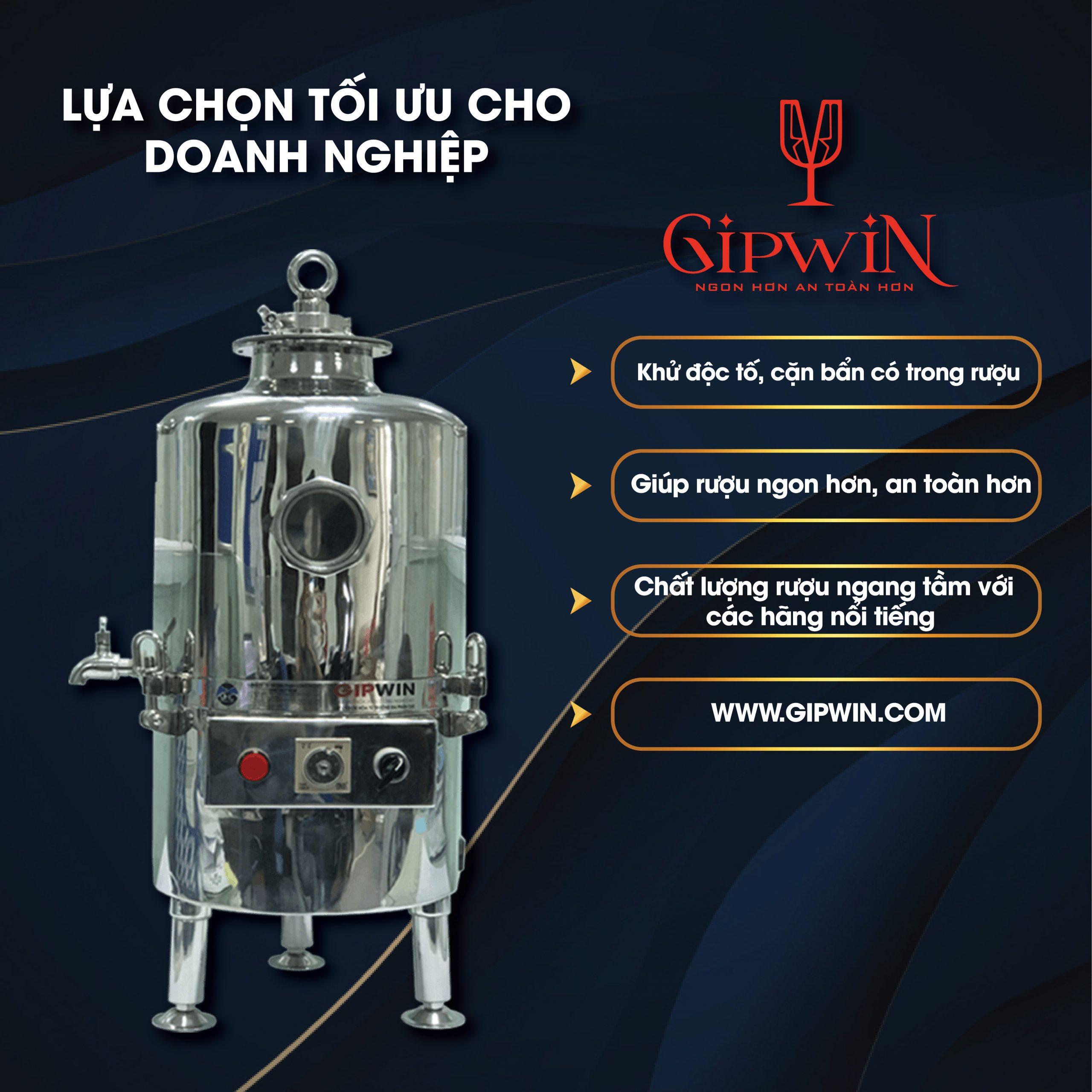 Máy lọc rượu cộng nghiệp Gipwin 30 lít