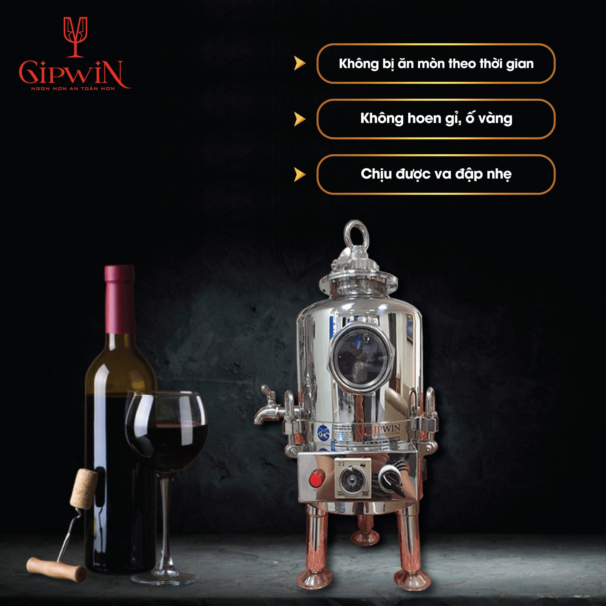 Máy lão hóa rượu bền, đẹp, chịu được va đập, không bị cong vênh theo thời gian.