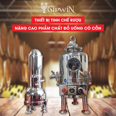 Máy máy lão hóa rượu Gipwin là công nghệ ưu việt